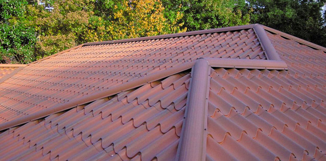 metal roof that looks like tile